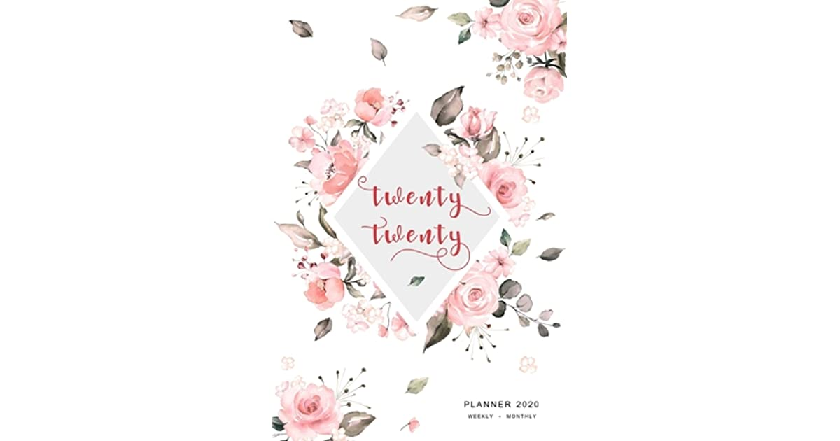 """December 2019 January 2019 2019 6/"""" x 9/"""" Weekly /& Monthly Planner: Pink Watercolor"""