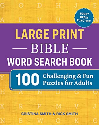 Large Print Bible Word Search Book by Cristina Smith