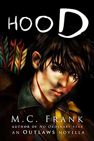 Cover of Hood. Robin looks pensively towards the reader.