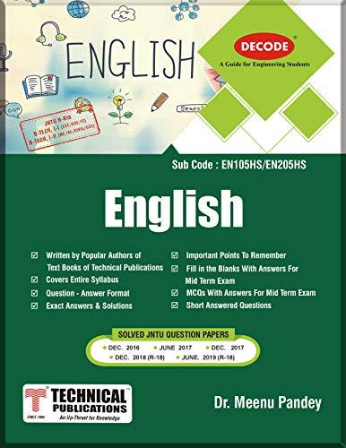 DECODE-English JNTU H B.TECH (I-I EEE/CSE/IT I-II MECH/CIVIL/ECE R18) Dr. Meenu Pandey