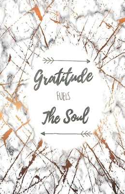 gratitude fuels the soul daily gratitude journal marble rose
