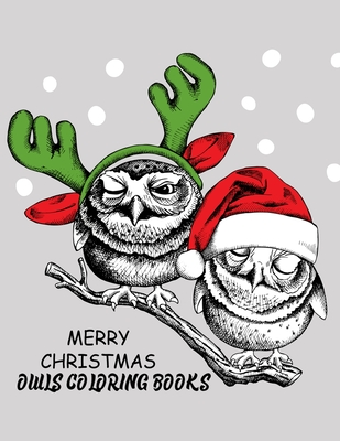 Merry Christmas Owls Coloring Books The Best Christmas