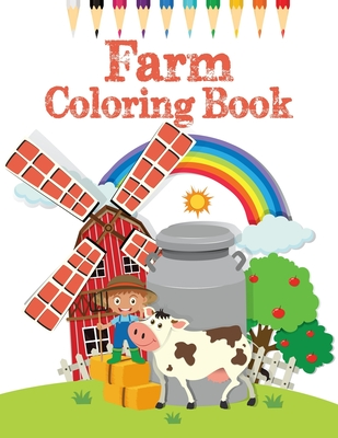 Farm Coloring Book A Farm Animal Coloring Book With Fun Easy