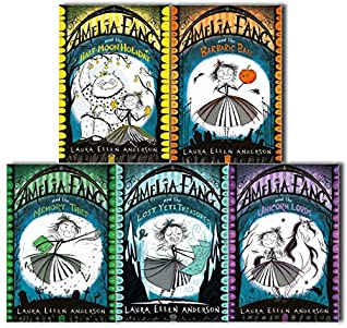 Amelia Fang Series Laura Ellen Anderson Collection 5 Books Set (Amelia Fang- The Memory Thief, The Unicorn Lords, The Barbaric Ball, The Half-Moon Holiday, Lost Yeti Treasures)