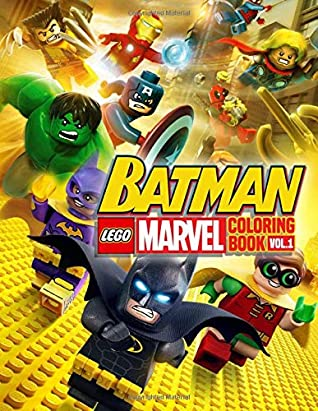 Lego Marvel & Batman Coloring Book: Great Coloring Books for ...