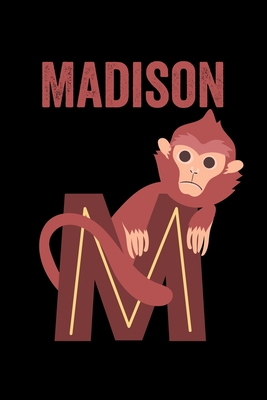 Madison Animals Coloring Book For Kids Weekly Planner And Lined Journal Animal Coloring Pages Personalized Custom Name Initial Alphabet Christmas Or Birthday Gift For Girls By Not A Book