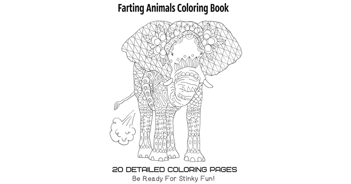 Farting Animals Coloring Book 20 Detailed Coloring Pages Be Ready For Stinky Fun By Tata Gosteva