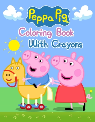 peppa pig coloring book with crayons