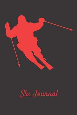 Ski Journal: Ski lined notebook gifts for a skiier skiing books for kids, men or woman who loves ski composition notebook 111 pages 6x9 Paperback black background with red skier