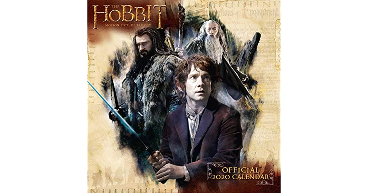 The Hobbit Lord Of The Rings 2020 Calendar Official Square Wall Format Calendar By The Hobbit Lord Of The Rings