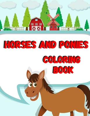 Horses And Ponies Coloring Book Kids Activity Book Animal