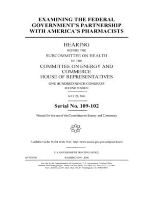 Examining the federal government's partnership with America's pharmacists