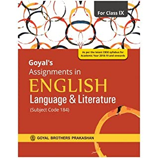 Goyals Assignments In English Language Literature For Class Ix Subject Code 184 By Editorial