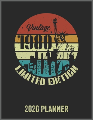 Vintage 1980 Limited Edition 2020 Planner: Daily Weekly Planner with Monthly quick-view/over view with 2020 Planner