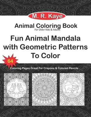 Animal Coloring Book Animal Lover Gift Fun Animal Mandala With