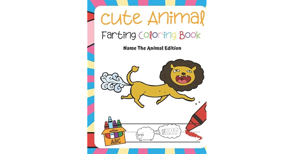 Farting Animals Adult Coloring Book Relaxation Fart Designs
