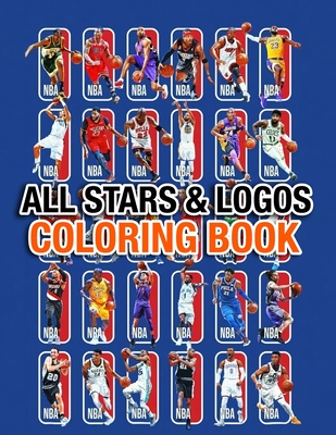 Nba All Stars And Logos Coloring Book 30 Nba All Stars And 30 Logos Of All Teams By Valerie Logan