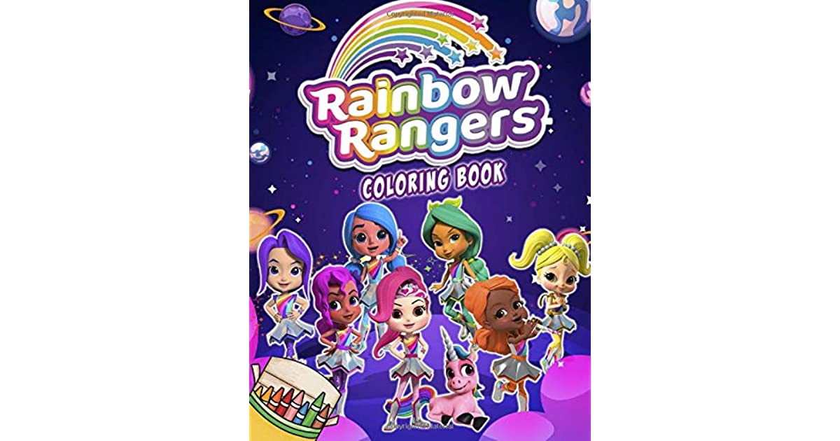 Rainbow Rangers Coloring Book Exclusive Illustrations For Kids By Print Brother