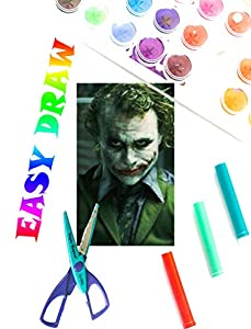 How to Draw The Dark Knight - Easy Drawing Tutorials - how to draw step by step for beginners