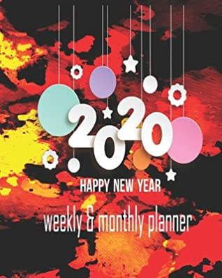 happy new year planner weekly and monthly jan to dec