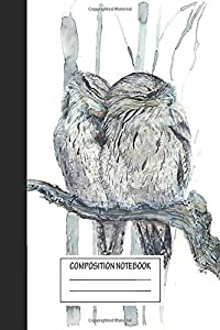 """Notebook: Tawny Frogmouth , Journal for Writing, Size 6"""" x 9"""", 164 Pages"""