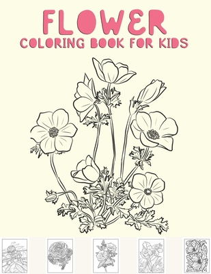 Flower Coloring Book For Kids Adult Coloring Book With Fun Easy