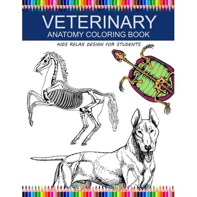 - Veterinary Anatomy Coloring Book: Kids Relax Design For Students: Younger  Kids For Learn Anatomy Dog, Cat, Hourse, Turtle, Frog, Bird, Fish By  Patrick Crown