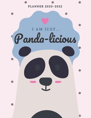 Cute Calendar 2022.I Am Just Pandalicious 2020 2022 Monthly Planner Cute Calendar For Panda Lovers By Jolly Pomeranian