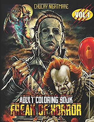 Horror Coloring Pages For Adults | Coloring Pages 2019 | 411x318