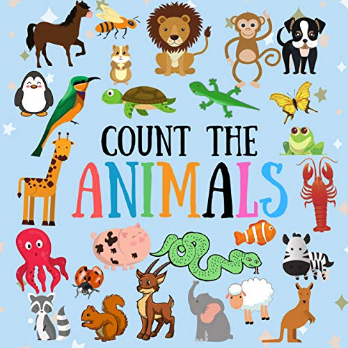 Count The Animals Guessing Game Book For Kids 2 5 Year Old Picture Puzzle Book For Preschoolers Seek And Find Animals Children S Learning Toys Cute Cover With Stars By Brainy Nick