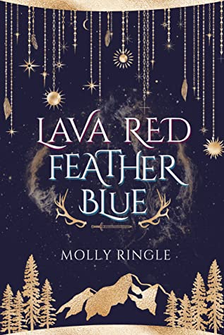 Lava Red Feather Blue
