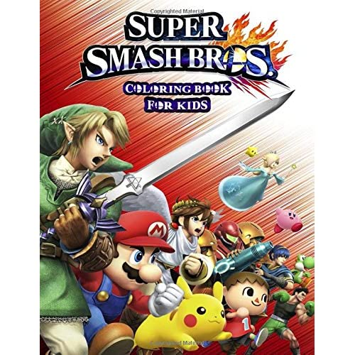 Super Smash Bros Coloring Book For Kids Fun Coloring Pages Featuring Your Favorite Super Smash Bros By Teddy S Books
