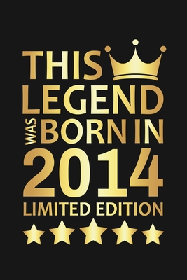 This Legend Was Born In 2014 Limited Edition: Happy 6th Birthday 6 Year Old Birthday Gift
