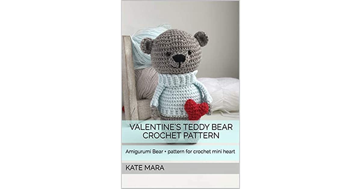 Free Crochet Pattern for a Tiny Teddy - Baby Bear Heart (Free ... | 630x1200