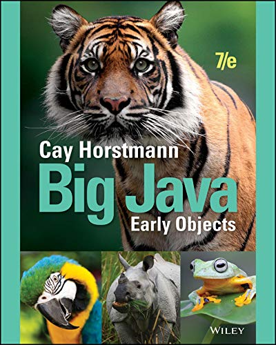 Big Java Early Objects- 6th edition