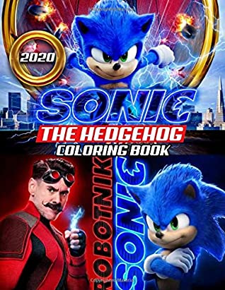 Sonic The Hedgehog Coloring Book Sonic 2020 Coloring Book With Newest Unofficial Images Based On 2020 Movie By Carmen Dolly