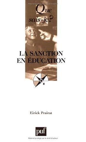 Sanction en education (La) (QUE SAIS-JE ?)