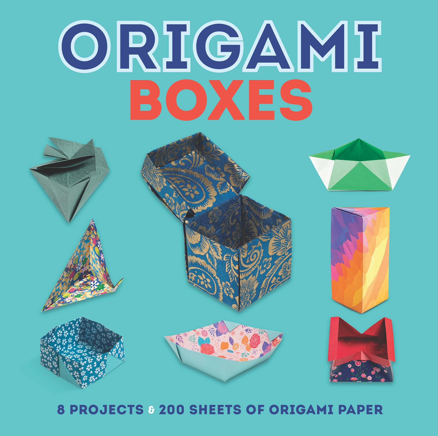 Hinged Origami Box - Cube Version Tutorial - Paper Kawaii | 1800x1808