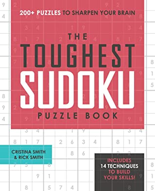 Toughest Sudoku Puzzle Book by Cristina Smith