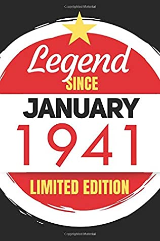 Legend Since January 1941 - Limited Edition: Blank Notebook Journal - Birthday Sketch Diary