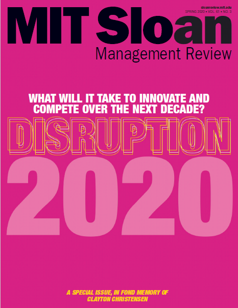 MIT Sloan Management Review - Spring 2020