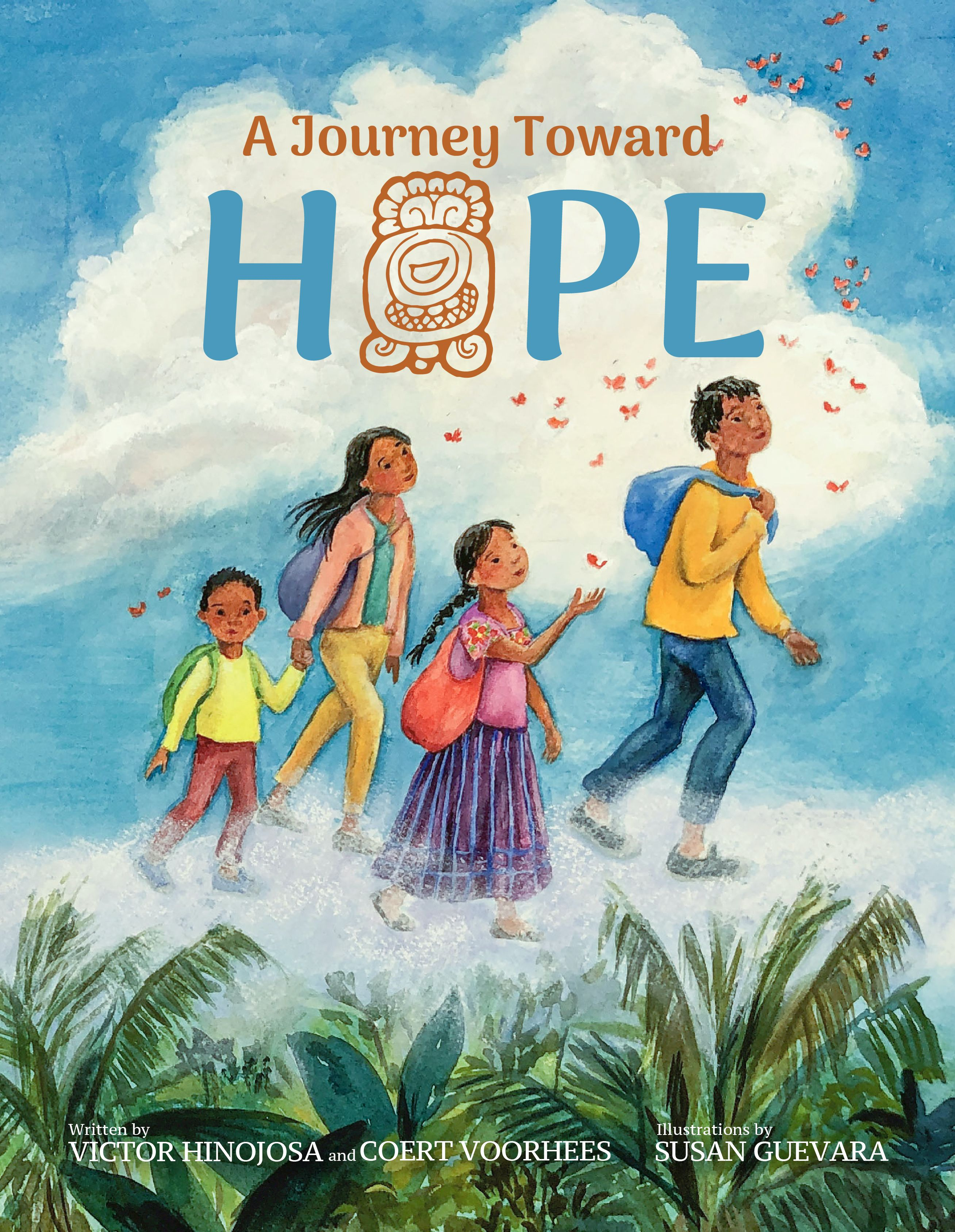'A Journey Toward Hope' by Victor Hinojosa & Coert Voorhees. Illustrated by Susan Guevara Link: https://i.gr-assets.com/images/S/compressed.photo.goodreads.com/books/1588357002l/52466756.jpg