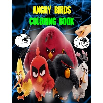 Angry Birds Coloring Book: Angry Birds Giant Coloring And Assorted Coloring  Book 60 Pages By Nabil Amal