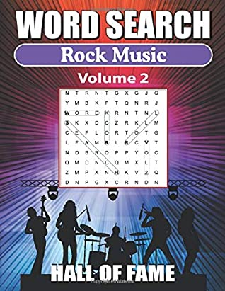 Word Search Rock Music Hall Of Fame – Vol 2: Word Find Book For Adults
