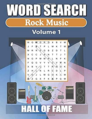 Word Search Rock Music Hall Of Fame – Vol 1: Word Find Book For Adults