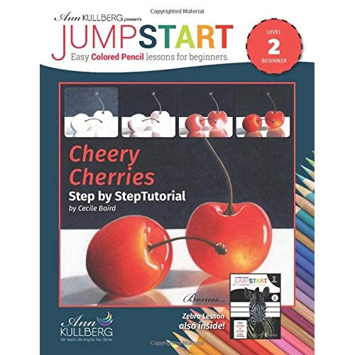 Jumpstart Cheery Cherries Zebra Tutorial Easy Colored Pencil Lessons For Beginners By Cynthia Knox
