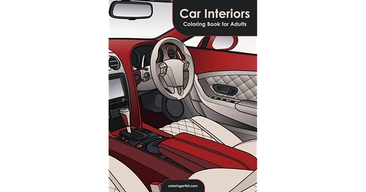 Car Interiors Coloring Book For Adults By Nick Snels