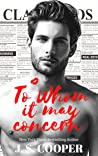 To Whom it May Concern (The Hart Brothers, #1)