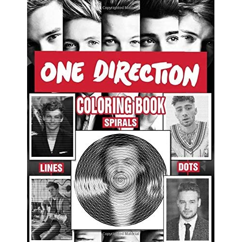One Direction Dots Lines Spirals Coloring Book Funny And Relaxing For Adults And Teens Fan Of One Direction By Donald Mitchell