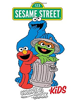 Sesame Street Coloring Book For Kids Cartoons Quarantine Stress Relief Coloring Book With 60 Sesame Street High Quality Designs By Vato Print Books